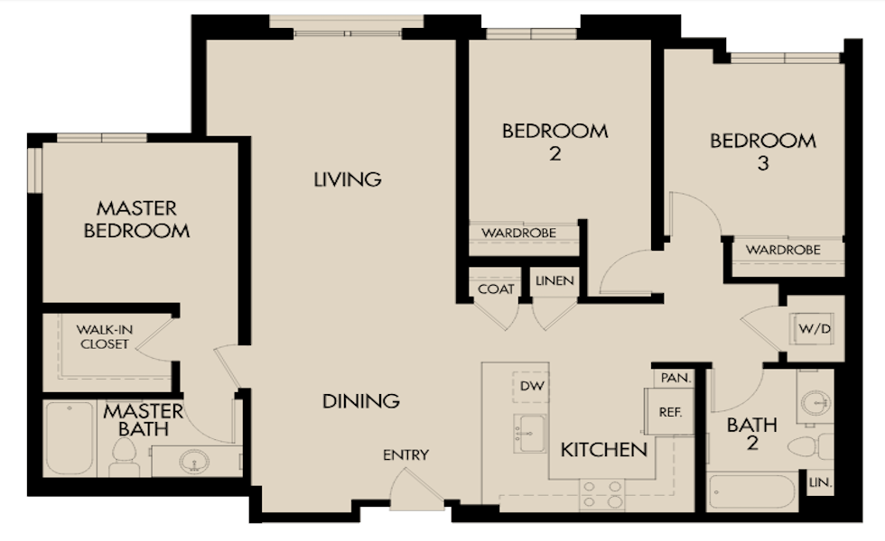 Triton Foster City / The Triton Floor Plan Spotlight