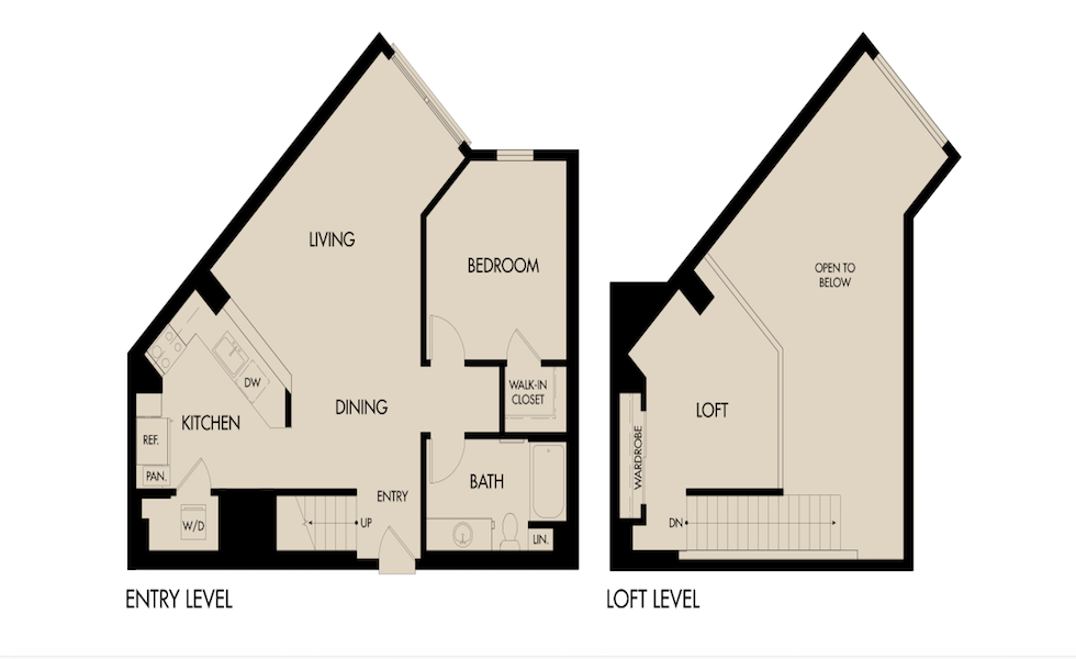 Triton Foster City / The Triton Floor Plan Spotlight: Plan 1B Loft